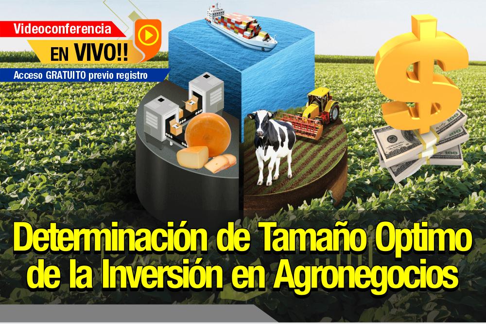 Determinación del Tamaño Óptimo de la Inversión en Agronegocios