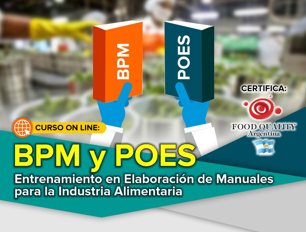 Curso On Line: Entrenamiento en Elaboración de Manuales BPM y POES para la Industria Alimentaria