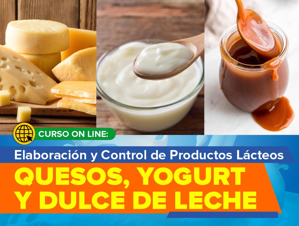Curso On Line: Elaboración y Control de Productos Lácteos – Quesos, Yogur y Dulce de Leche