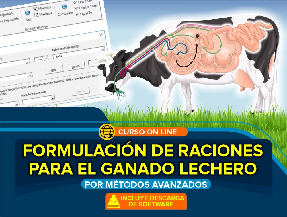 Curso On Line: Formulación de Raciones para Ganado Lechero por Métodos Avanzados