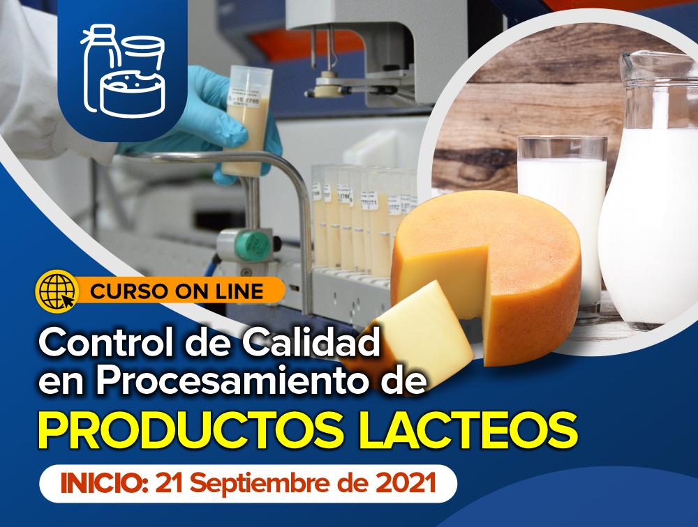 Curso On Line: Control de Calidad en Procesamiento de Productos Lácteos